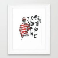 waldo Framed Art Prints featuring Waldo by Carrie Anne Hudson