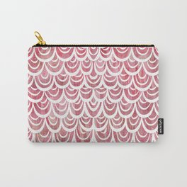 Watercolor Mermaid Rosy Garnet Carry-All Pouch