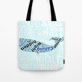 starry sea whale Tote Bag