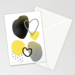 Abstraction ultimate gray & illuminating 01 Stationery Cards