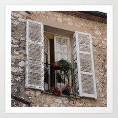 French Balcony I Art Print