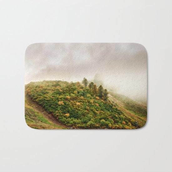 Autumn valley in the cloud Bath Mat