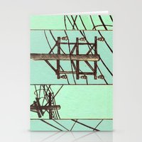 springsteen Stationery Cards featuring Nebraska Power Lines by Mighty Lark