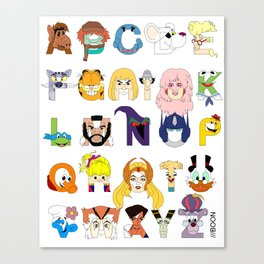 Child of the 80s Alphabet Canvas Print