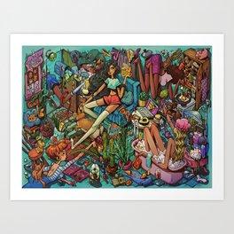 Housemates Art Print