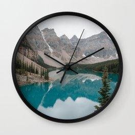 Moraine Lake, Banff National Park Wall Clock