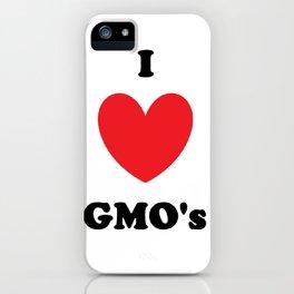I Love GMO's iPhone Case