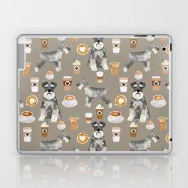 Schnauzer coffee dog breed pet art pure breed cafes pupuccino Laptop & iPad Skin