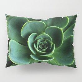 JADE GREEN SUCCULENT ROSETTES DESIGN Pillow Sham