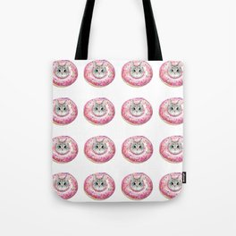 cat donuts pattern Tote Bag