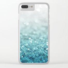 MERMAID GLITTER - MERMAIDIANS AQUA Clear iPhone Case