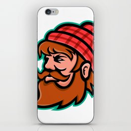 Paul Bunyan Lumberjack Mascot iPhone Skin
