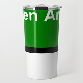 Green Arrows   Travel Mug