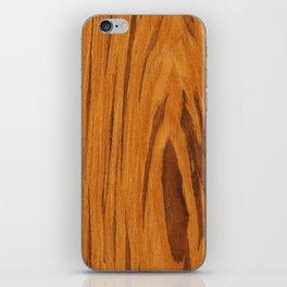 Teak Wood iPhone Skin