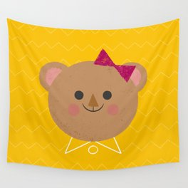 Dressy Bear Wall Tapestry