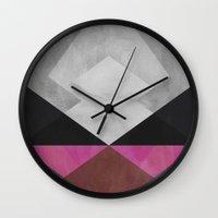 diamond Wall Clocks featuring Diamond by Georgiana Paraschiv