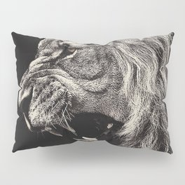 Angry Male Lion Pillow Sham