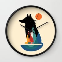 best friend Wall Clocks featuring Best Friend by Andy Westface