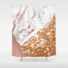 Layers of rose gold Shower Curtain