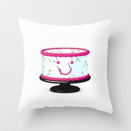 The cake is not a lie. Throw Pillow