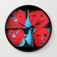 talking heads Wall Clocks featuring Talking Heads - Remain in Light by NICEALB