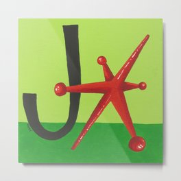 J is for Jack Metal Print