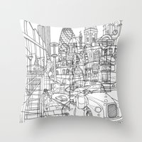 london Throw Pillows featuring London! by David Bushell