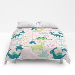Dino Fun land Black Comforters