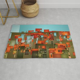 Abstract city in color by lh Rug