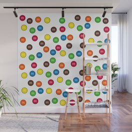 Cute Candy Chocolate Collage Wall Mural