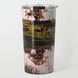 Cows in the Canal Travel Mug