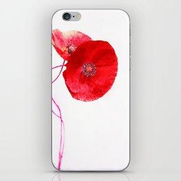 Poppies (duet) iPhone Skin