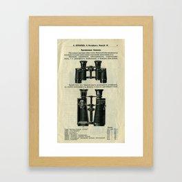 Vintage Page: Binoculars Framed Art Print