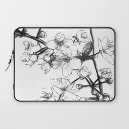 Cherry Blossoms Minimal Drawing Laptop Sleeve