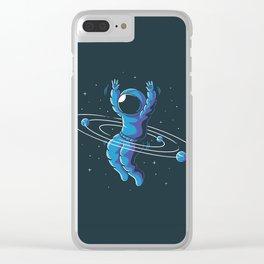 Space Hula Hoop Clear iPhone Case