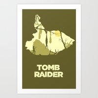 tomb raider Art Prints featuring Tomb Raider by FelixT