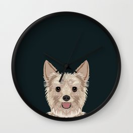 Tanner - Yorkshire Terrier gifts and gifts for dog person and dog people gift ideas Wall Clock