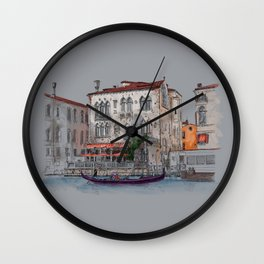 Evening in Italy Wall Clock