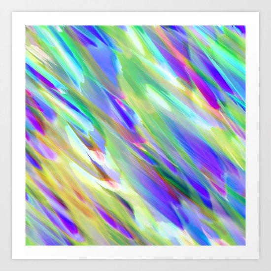 Colorful digital art splashing G401 Art Print