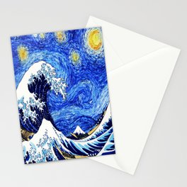 The Wave Starry Night Stationery Cards