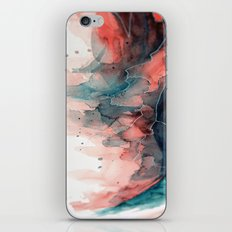 Watercolor dark green & red, abstract texture iPhone & iPod Skin