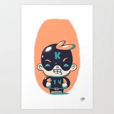 Kaptain 14 Art Print