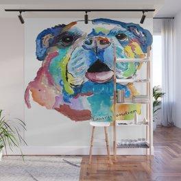 Blissful Bulldog Wall Mural