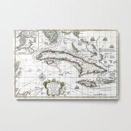 The island of Cuba - 1762 Metal Print