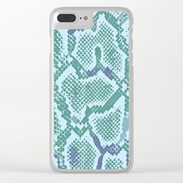 Snakeskin in green Clear iPhone Case
