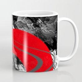 red storm abstract geometric digital art Coffee Mug