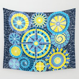Mosaic Pinwheels Wall Tapestry