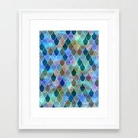 mermaid Framed Art Prints featuring Mermaid by Schatzi Brown