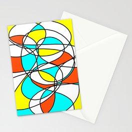 Randomly Retro Orange Stationery Cards