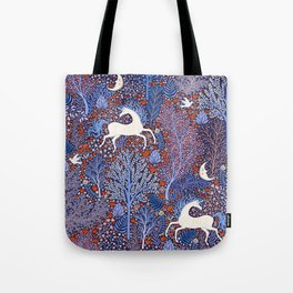 Unicorns in a nocturnal Forest Tote Bag
